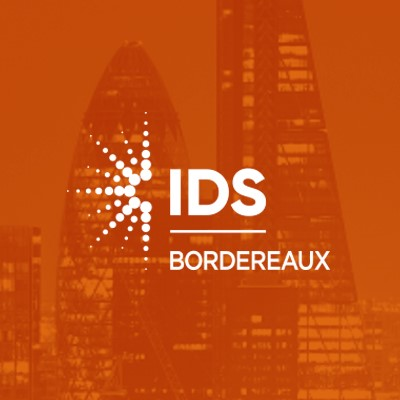 IDS Bordereaux Solution Logo on Orange Background