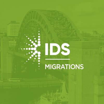 IDS Data Migration Logo on green background