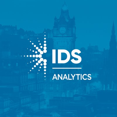 IDS Analytics Logo on blue background