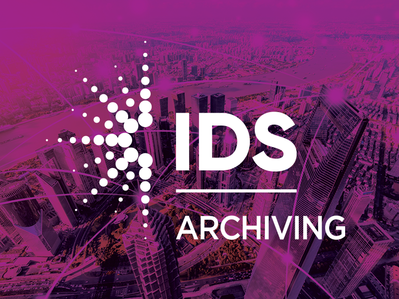 Purple City Image with IDS Archiver Solution Logo